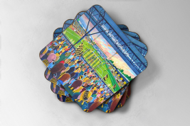 abbey stadium Coaster set of four (1)